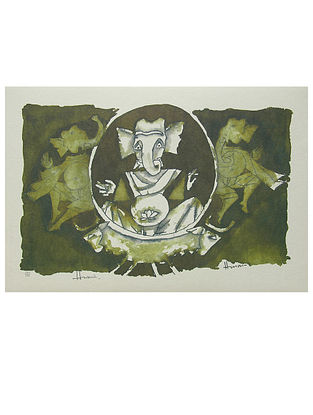 Ganesh Multicolor Offset on Paper (14in x 20in)