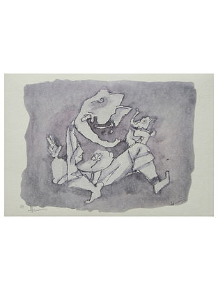 Ganesh Multicolor Serigraph on Paper (14in x 20in)