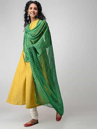 Green Leheriya Chiffon Dupatta