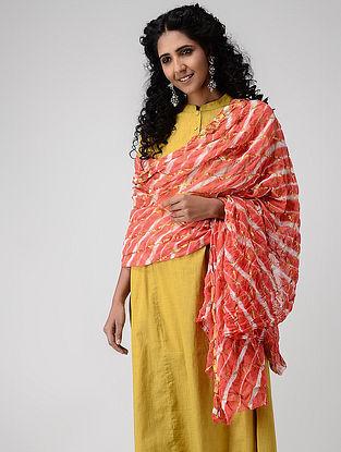 Multicolor Leheriya Chiffon Dupatta with Zari Border