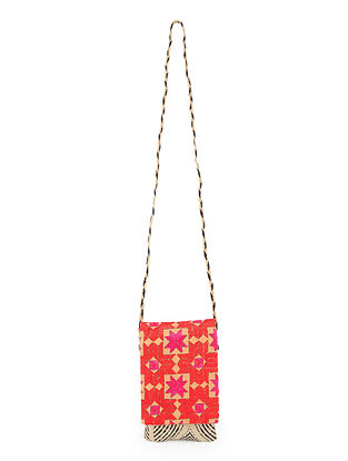 Multicolored Handcrafted Phulkari Mobile Sling