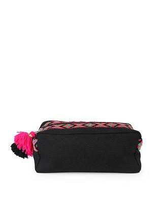Black Handcrafted Phulkari Travel Kit