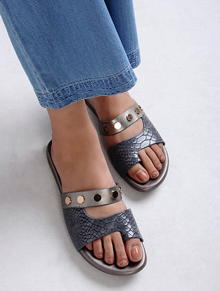 Blue-Silver Handcrafted Flats