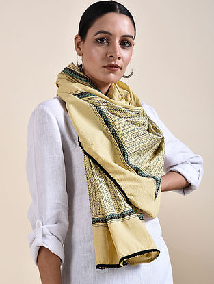 Kantha Embroidered Cotton Stole
