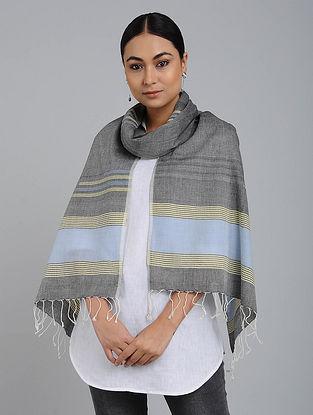 Grey-Blue Cotton Jamdani Stole