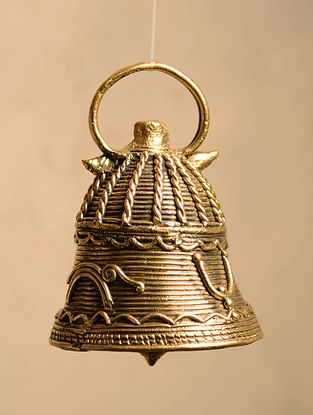 Dhokra Brass Hanging Bell (Dia- 2.7in, H- 4in)