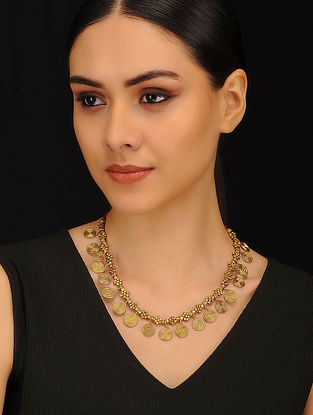 Gold Tone Handcrafted Dhokra Necklace
