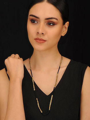 Black Gold Tone Handcrafted Necklace