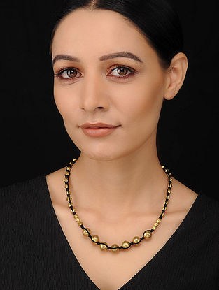 Black Gold Tone Handcrafted Dhokra Necklace