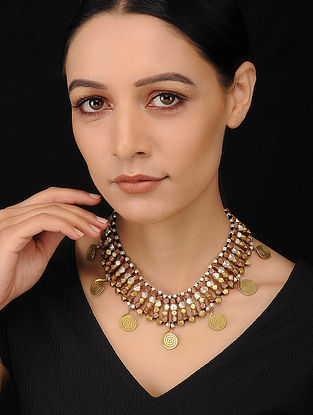 Black Dual Tone Handcrafted Dhokra Necklace