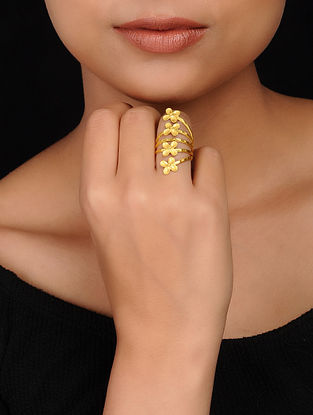 Classic Gold Plated Brass Ring