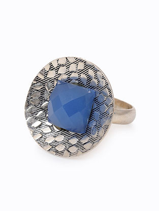Chalcedony Silver Ring (Ring Size: 6.5)