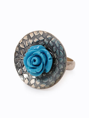 Turquoise Silver Ring (Ring Size: 6)