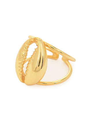 Gold Tone Classic Silver Adjustable Ring