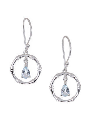 Blue Topaz Silver Earrings