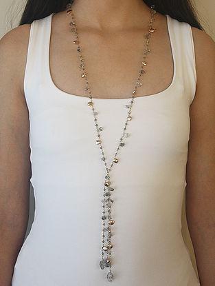 Grey Gold Tone Kaska Long Necklace