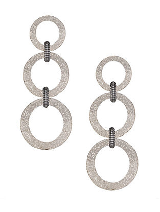 Silver Tone Zabel Triple Hoop Earrings