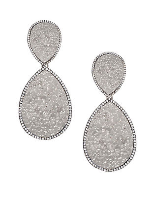 Silver Tone Zabel Statement Drop Earrings