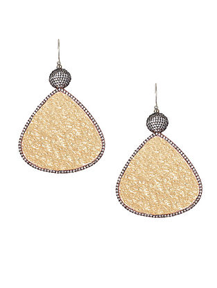 Gold Plated Zabel Triangular Gold Drop Earrings