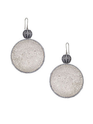 Silver Tone Zabel Circular Drop Earrings