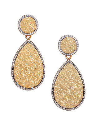 Gold Plated Zabel Statement Drop Earrings