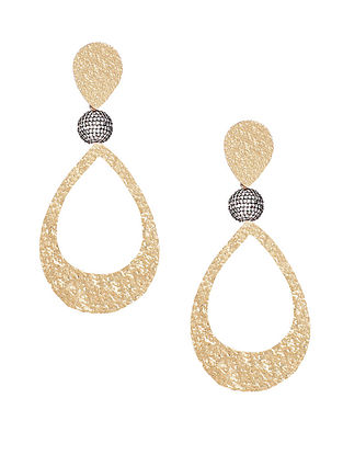 Gold Plated Zabel Large Gold Drop Earrings