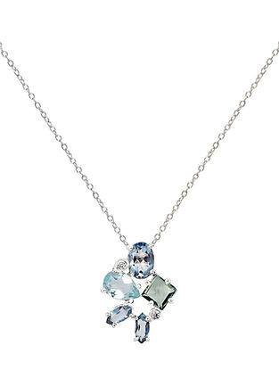 Blue-Grey Bluette Mariko Delicate Necklace