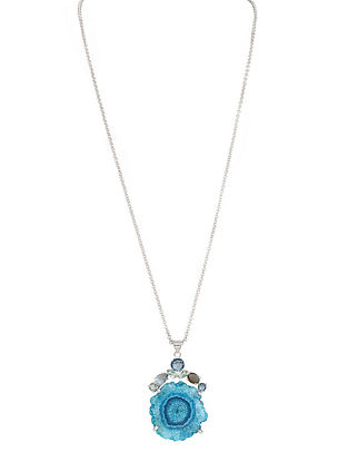 Blue-Grey Bluette Solar Necklace