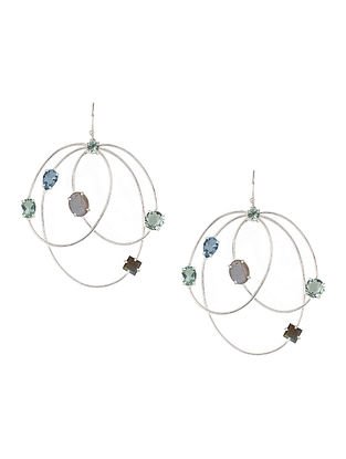 Blue-Grey Bluette Multigem Hoops
