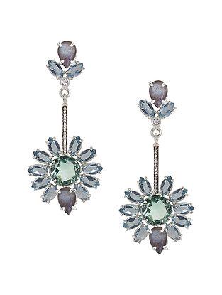 Blue-Grey Bluette Soleil Earrings