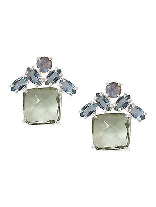 Blue-Grey Bluette Stud Earrings