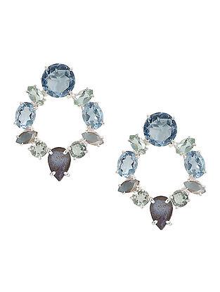 Blue-Grey Bluette Wreath Stud Earrings