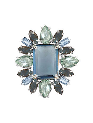 Blue-Grey Bluette Statement Ring