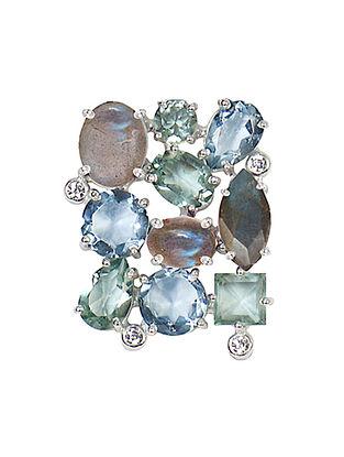 Blue-Grey Bluette Square Ring