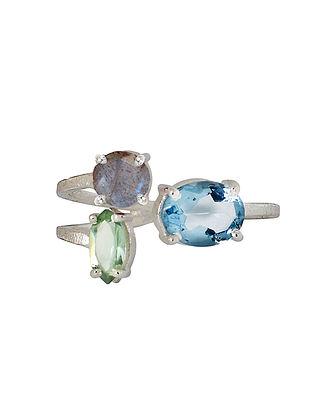 Blue-Grey Bluette Trio Demi Ring