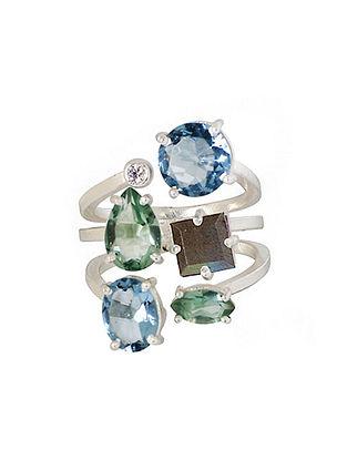 Blue-Grey Bluette Penta Demi Ring