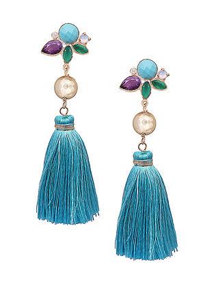 Multicolored Gemstones Abela Plume Earrings