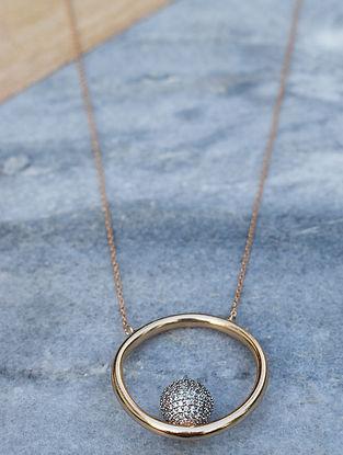 Gold-Silver Corona Fiona Necklace