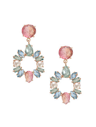Pink- Blue Candy Cabana Statement Danglers