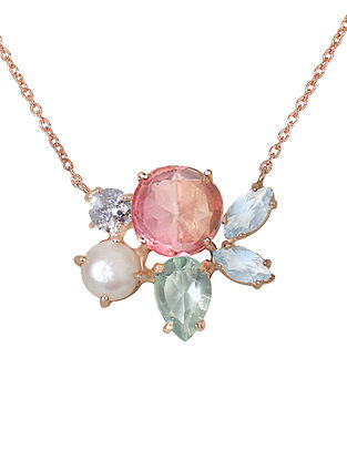 Pink-Blue Candy Cabana Melinda Necklace