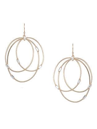 White Baguette Zirconia Glamrock Hoop Earrings
