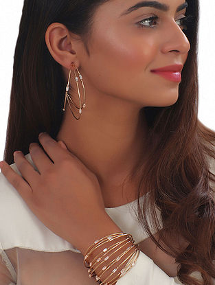 White Gold Large Hoops
