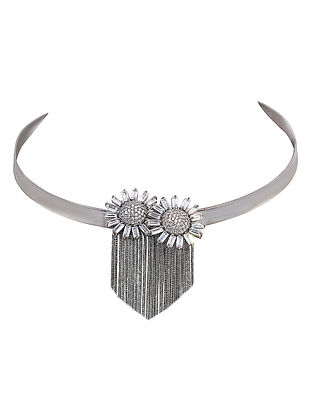 Classic Rhodium-plated Brass Necklace