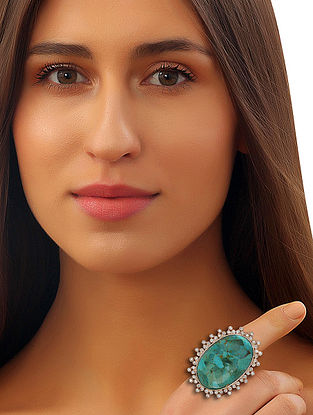 Turquoise Pela Statement Ring (Ring Size-1.49)