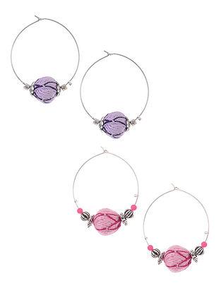 Multicolored Thread Earrings (Set of 2)