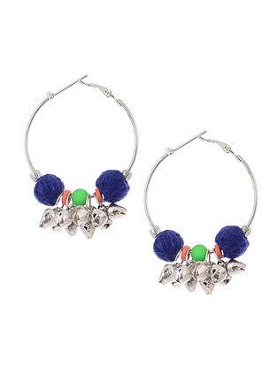 Blue Thread Earrings