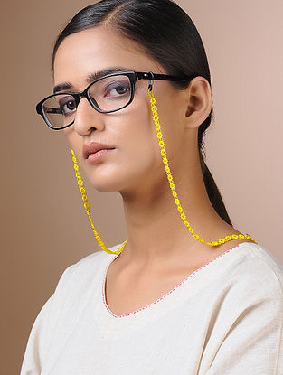 Yellow Handcrafted Beaded Eyewear Chain