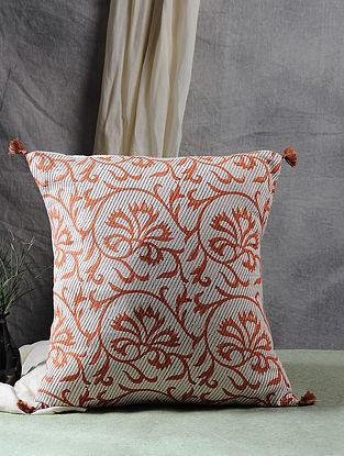 Multicolor Block Printed Cotton Flex Cushion Cover (16in X 16in)