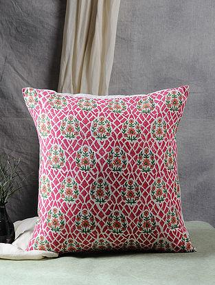 Multicolor Block Printed Cotton Flex Cushion Cover (18in X 17.5in)