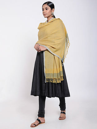 Yellow Natural-dyed Wool Shawl
